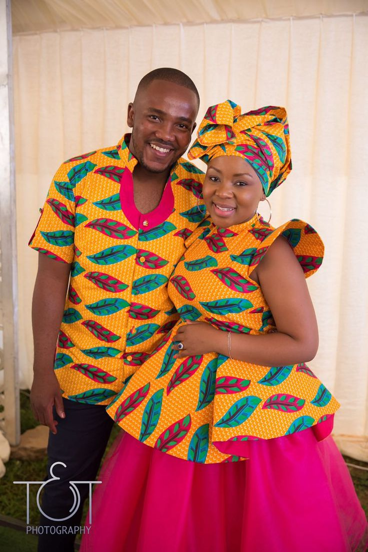 African couple traditional attire