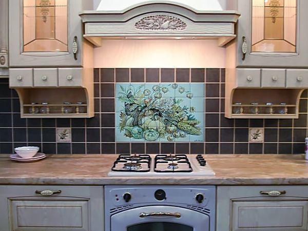 Кухонные фартуки из керамической плитки