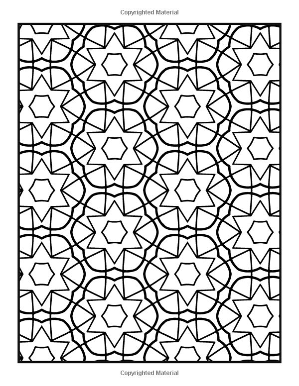 Patterns Coloring Book Vol. 7: Easy To Color Repeating