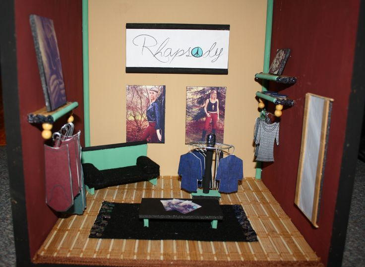 "Mini-mockup Tradeshow Booth for my brand ""Rhapsody"" Melissa Weiler © #fashion #rhapsody #boho #advertisement #branddevelopment #tradeshow"