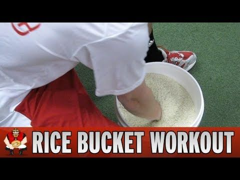 ▶ Catching 101 - Rice Bucket Workout for Baseball Catchers - YouTube