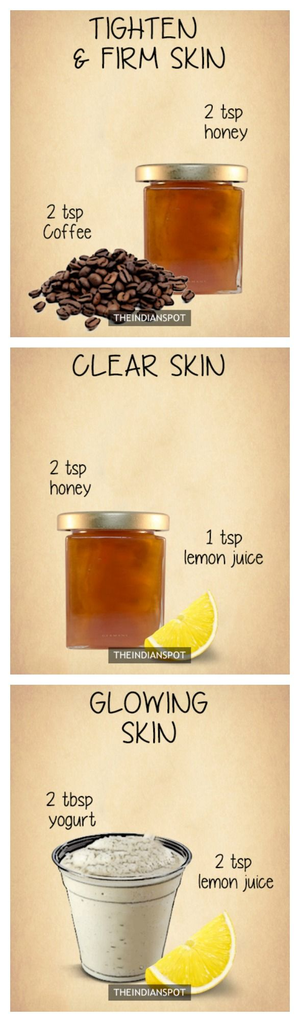 10 Amazing 2 ingredients all natural homemade face masks - THEINDIANSPOT - Page…