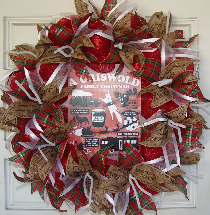 Christmas Vacation Griswold, Movie Quote, Saying, Deco Mesh Door Wreath
