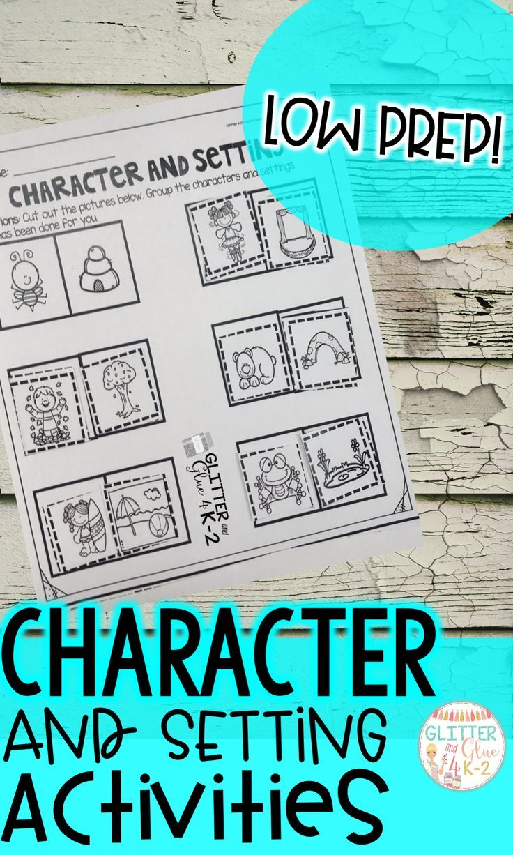 Teach Character And Setting With These Fun And Low Prep Activities Includes Posters Exit Tickets Two Books Character And Setting Reading Ideas Activities [ 1226 x 736 Pixel ]