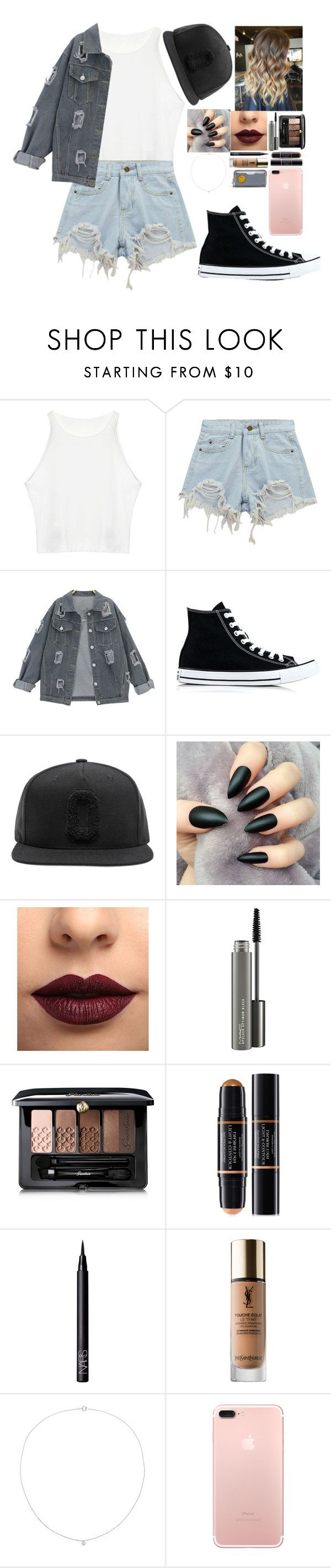"""that snapback look"" by danifashionblog ❤ liked on Polyvore featuring Chicnova Fashion, Converse, LASplash, MAC Cosmetics, Guerlain, Christian Dior, NARS Cosmetics, Yves Saint Laurent, Sole Society and Anya Hindmarch"