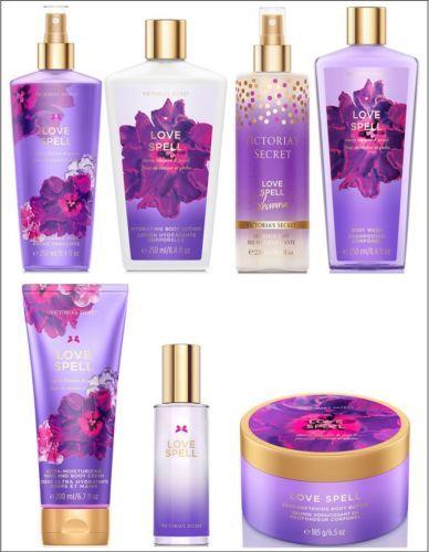 Victorias-Secret-LOVE-SPELL-Body-Mist-Lotion-Cream-Butter-Shimmer-Wash