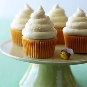 Guests will be buzzing about these fluffy cupcakes, which have grated lemon zest, lemon juice and honey not only in the batter, but in the luscious frosting as well.