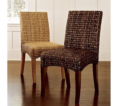 Seagrass Chair #potterybarn. Anxiously waiting for my delivery of these chairs in havana dark seagrass. Matching barstools also. So excited!!!