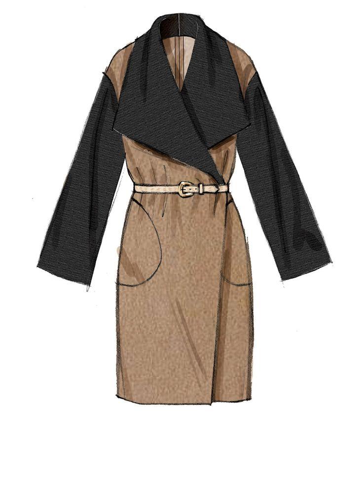 M7480 Misses' Shawl Collar, Wrap Vest and Coats