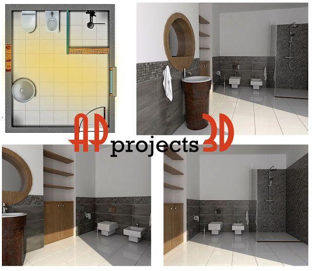 AP projects 3D: Bathroom #9