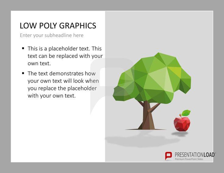 Low Poly Grafiken sind bestens geeignet um aus alltäglichen Formen und Gegenständen besondere Grafiken zu erstellen. @ http://www.presentationload.de/low-poly-grafiken.html