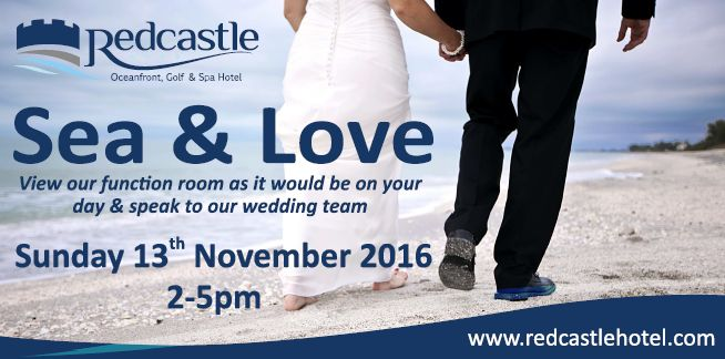 Come along to our Sea & Love event on Sunday 13th November and view our stunning Ocean Suite set up for a wedding and speak to our wedding team about your special day.