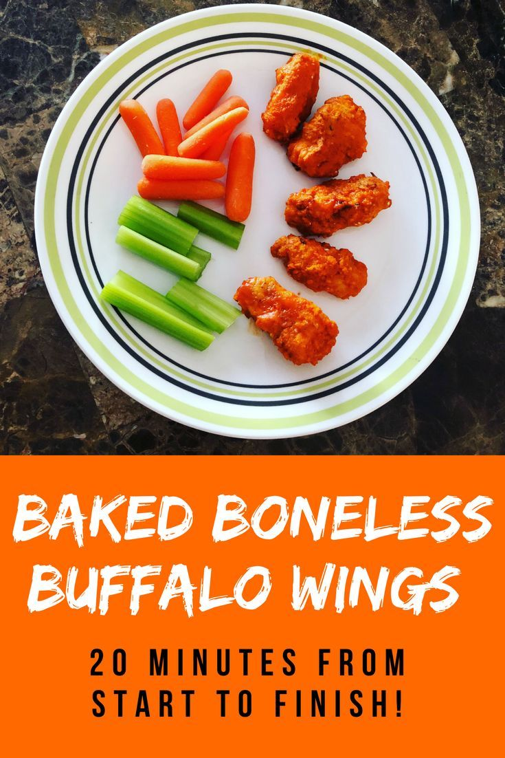 The quickest, easiest from scratch baked boneless buffalo wings you'll ever make. They are absolutely perfect for Superbowl Sunday or any regular game day! via @herambitionblog