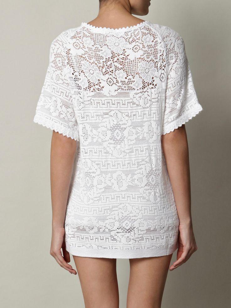Roomi lace T shirt dress  Isabel Marant Etoile  Matchesfashi
