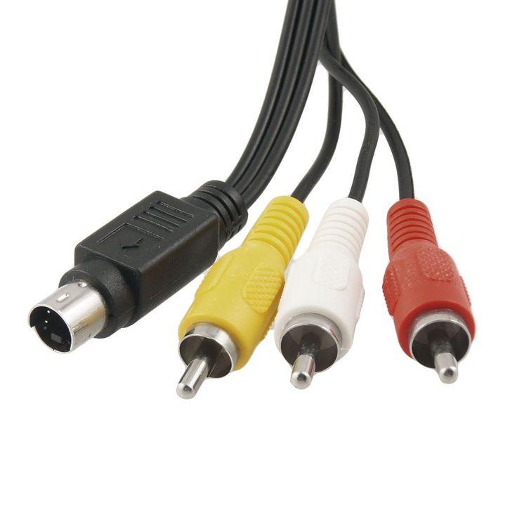 IMC Caliente 1.45 M Largo 4 Pin s-video a 3 RCA Macho Cable Compuesto Negro