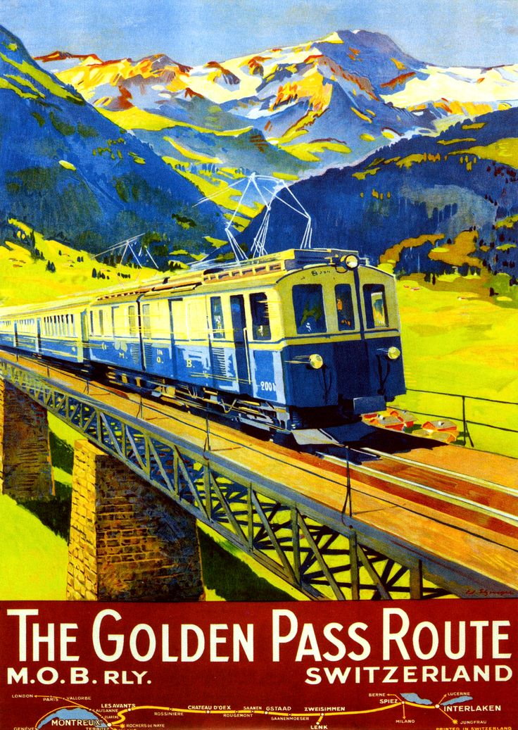 105 best trenes suizos carteles swiss trains posters for Vintage train posters