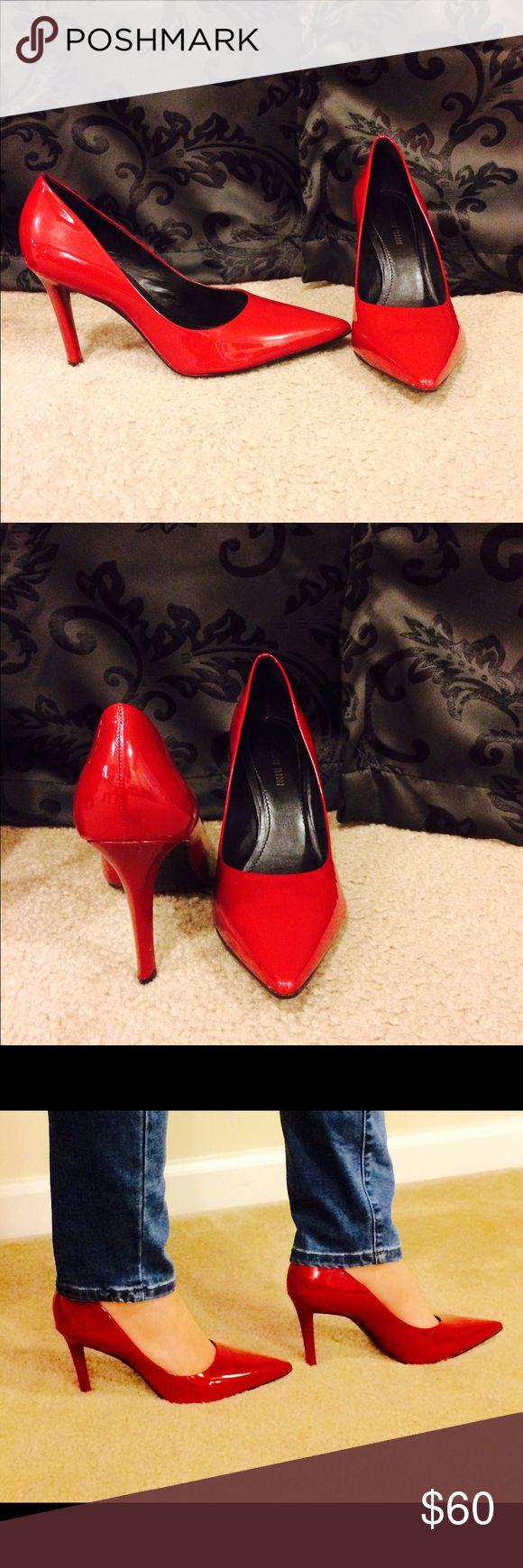 Gianni Bini Patent Leather Red Heels (size 8) Gianni Bini Patent Leather Red Heels (size 8). Originally $80. Gianni Bini Shoes Heels