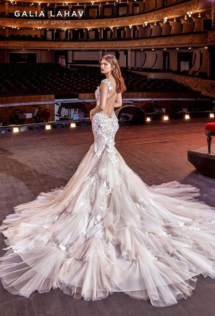 galia lahav s2020 couture bridal cap sleeves sweetheart neckline heavily embelli…