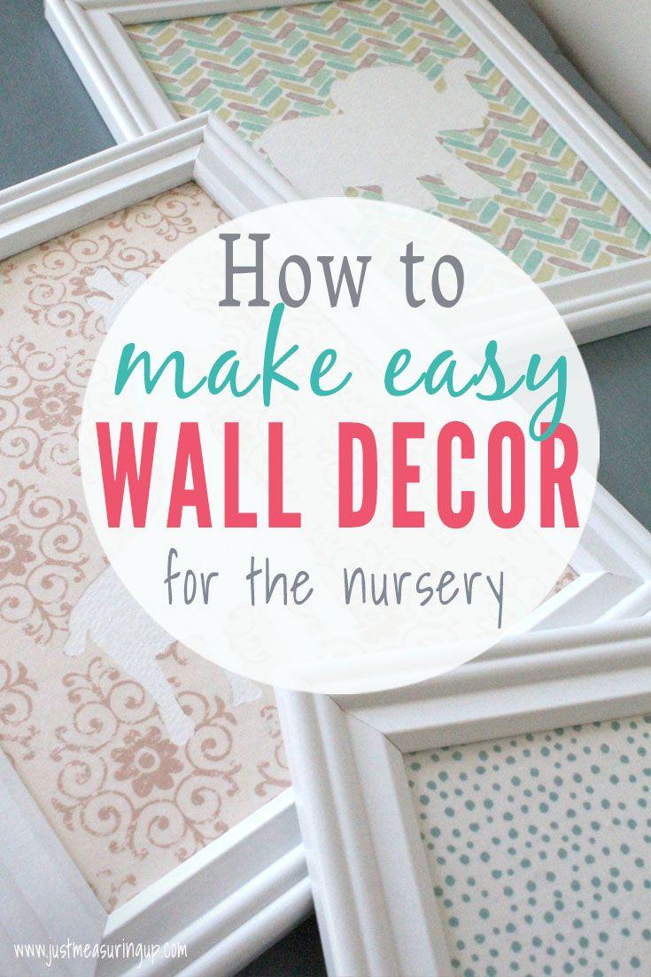 Diy Nursery Wall Art On A Budget Easy Cheap Nursery Decor