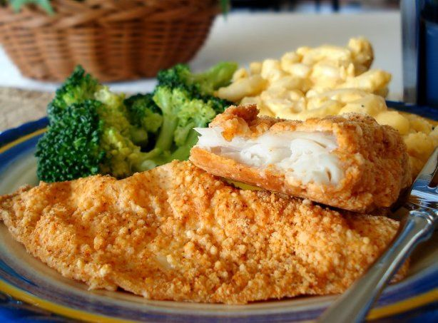 Healthier and tastier way to serve fish. I have used flounder, catfish, grouper, perch and tilapia with great results.If your fish is not getting crispy try broiling it for a minute or so to get it crispy. Oh and parmesan from a can is ok but treat yourself and use freshly grated. You will be oh so happy you did.