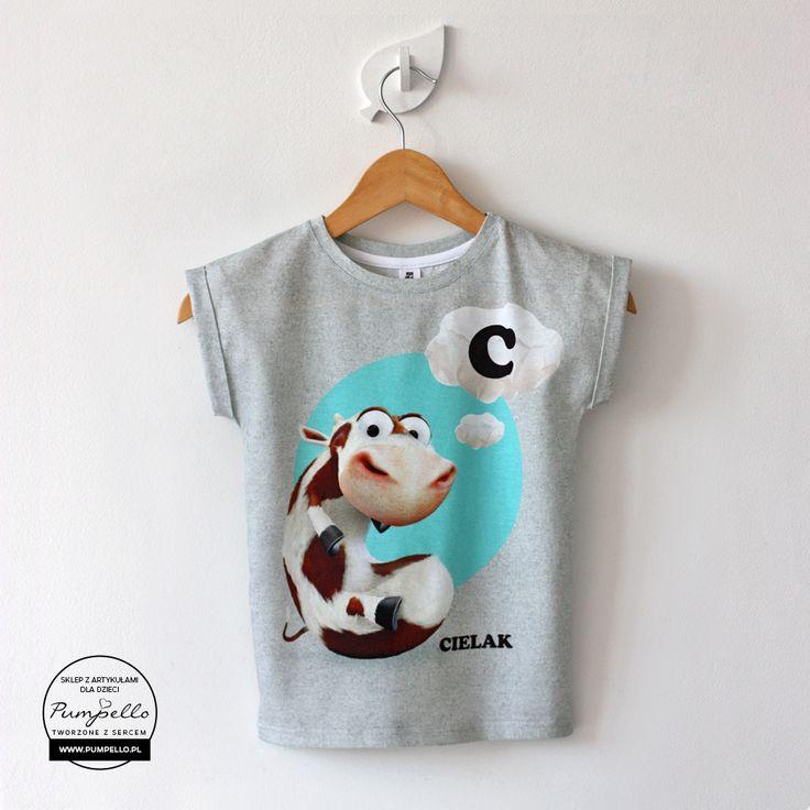 T-shirt Cielaczek melanżowy