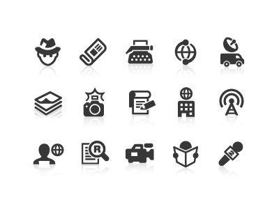 News Reporter Icons by Dutch Icon