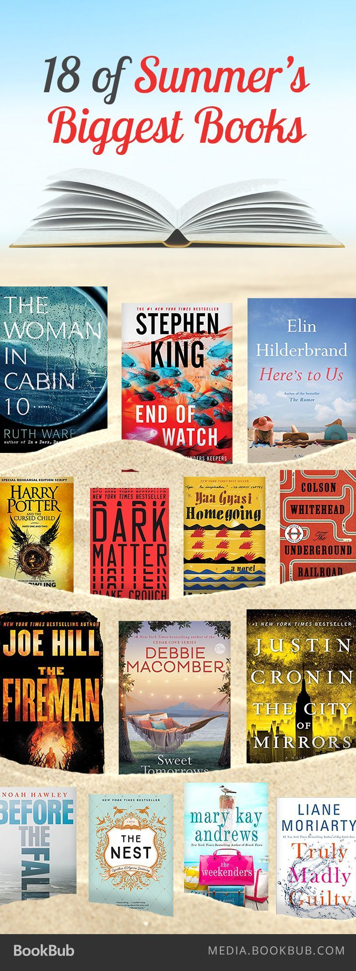 18 of this summer 2016's biggest books, including The Woman in Cabin 10 by Ruth…