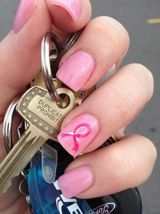 Breast cancer nails #BreastCancerNailDesigns #NailDesigns #nailart