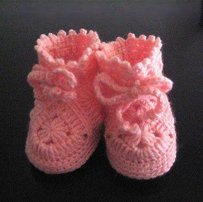 Botines para bebe a crochet foto 1 de 3