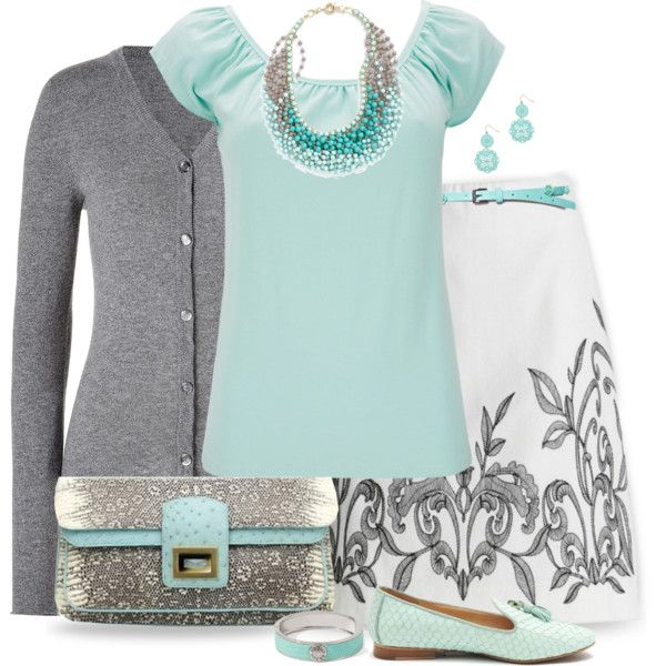 Love it-great color combination. I like the idea of the top under a sweater/jacket with pants and a heel