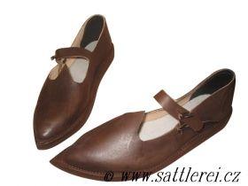 Historická obuv dámská 14. století | Sattlerei.cz • 526,32 kr