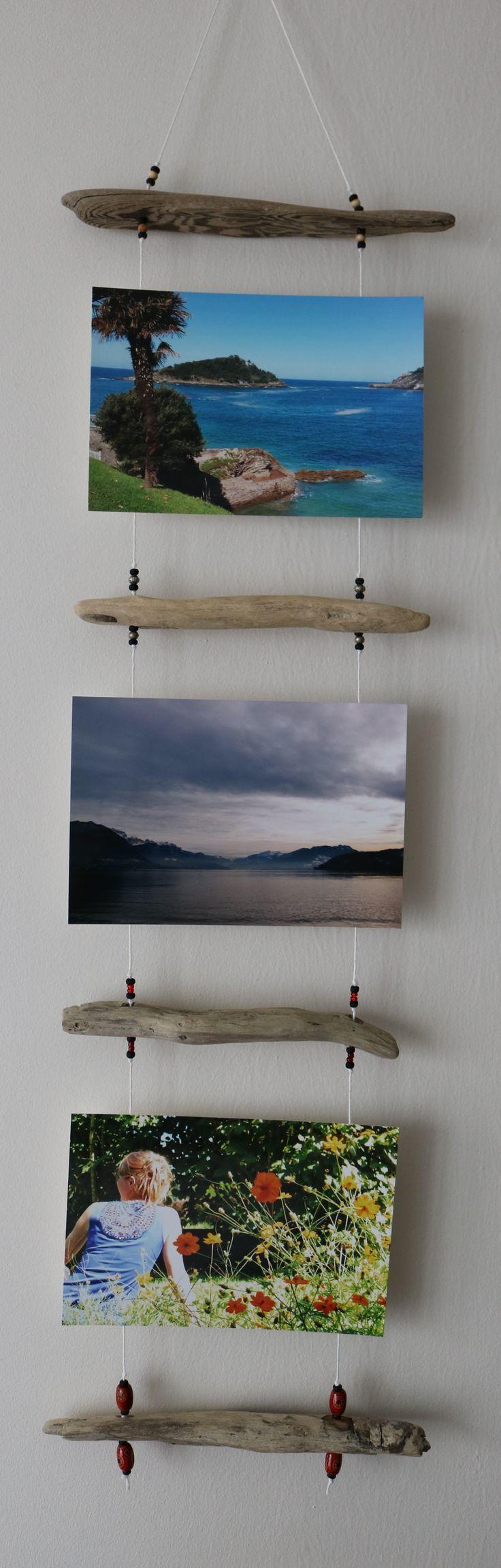 Porte photos en bois flott heloisa pinterest for Wohnzimmer 4 x 8