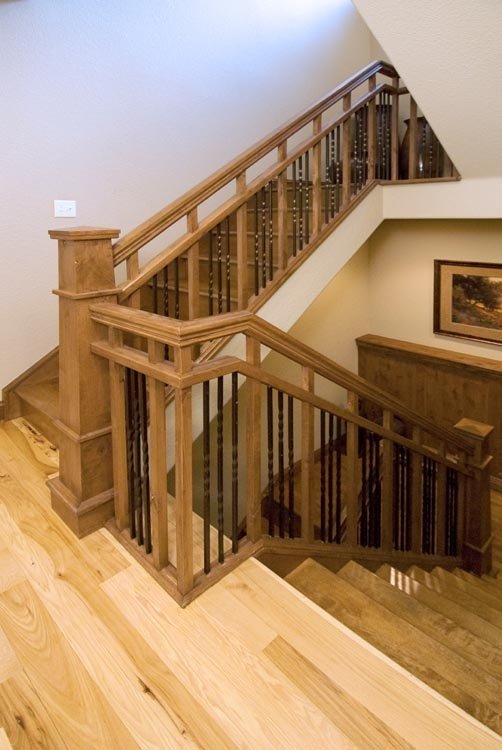 Ranch House Design Ideas Wood And Iron Craftsman Style Stair | Website | Craftsman