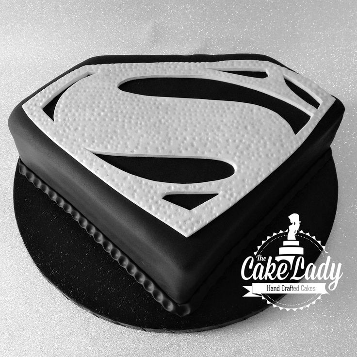 Superman logo cake - For all your cake decorating supplies, please visit craftcompany.co.uk
