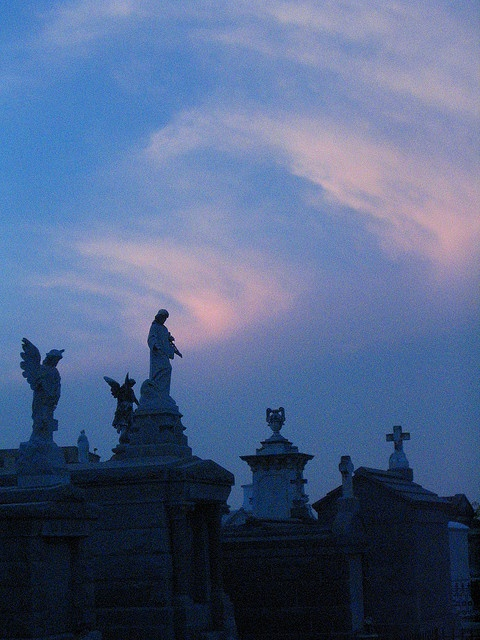 New Orleans cemetary - Esplanade Ave. by sassycrafter, via Flickr