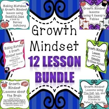 This bundle includes twelve growth mindset lessons using read-alouds. These lessons include some of the stories, follow-up discussion questions for small and large groups, as well as worksheets. There are 70 pages of resources not including cover pages, credit pages, and terms of use.