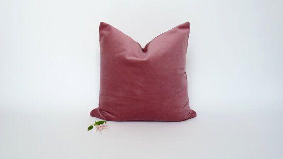 Dusty Pink Velvet Pillow case// Pink Velvet by LiveLoveSmile