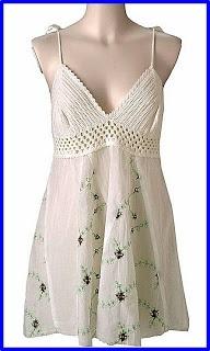 Vestidos, crochet en tela