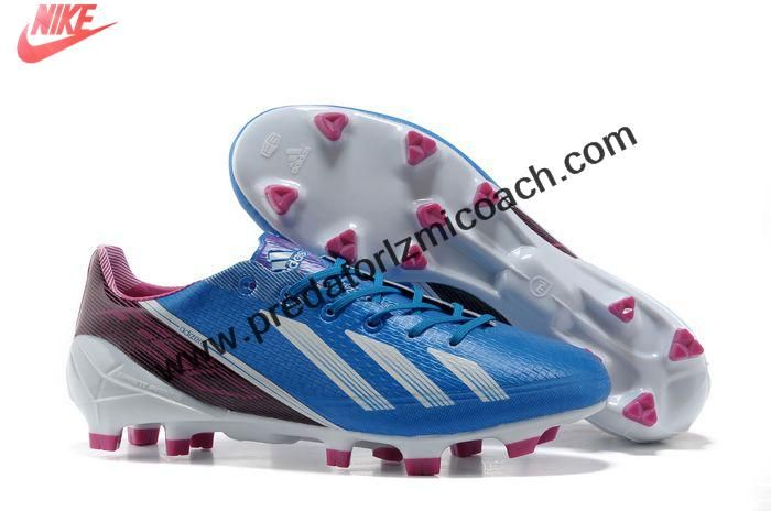 Latest Listing Adidas F50 adizero TRX FG TPU - Blue Burguny White Soccer Shoes For Sale