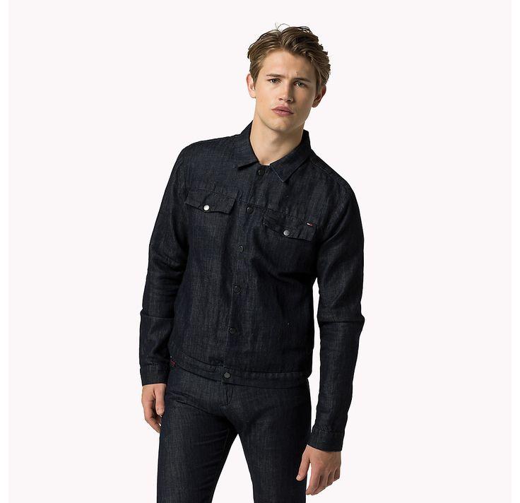 Tommy Hilfiger Tailored Denim Trucker - tailored rinse (Blauw) - Tommy Hilfiger Jacks - hoofdbeeld