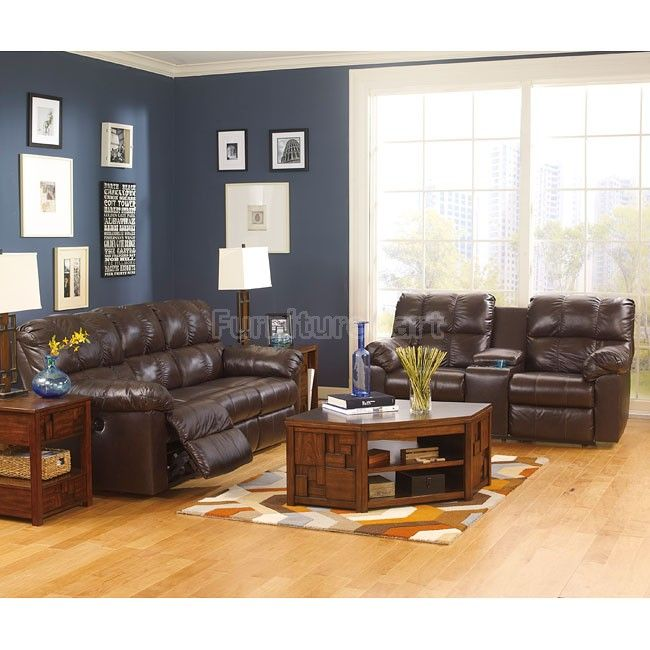 Living Room Furniture Sales: Kennard Chocolate Living Room Set W/ Power