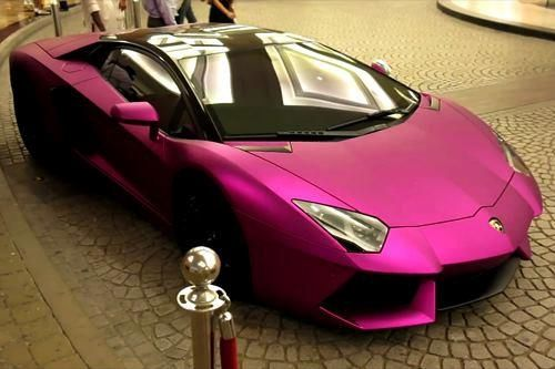 Thats one bright lambo
