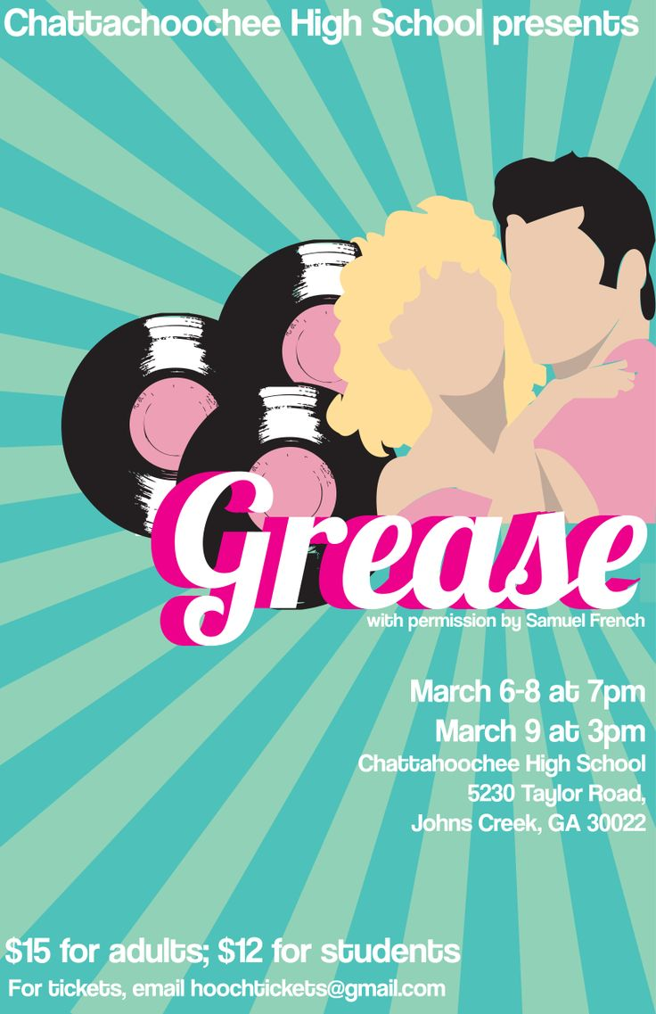 Grease Poster redesign