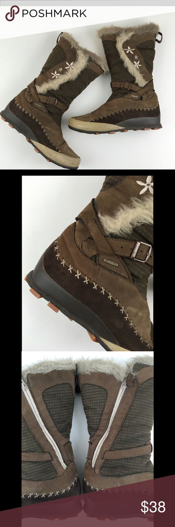 """Quechua Stratermic Brown Snow Winter Boots Join us on Instagram ➡️ FashionCents203 every Friday starting 11/17 for outfits of the day featuring items from our closet   Quechua Stratermic Women's Brown Snow Winter Boots Size US 8 1/2 & EU 41  Measures 12"""" tall  In overall good condition- no holes, rips or major stains but does have minor signs of wear in the fabric and faux fur trim  The rubber soles are in great condition   Check out our other listings & bundle your likes so we can send you…"""