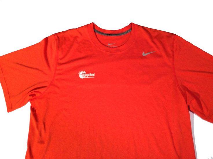Orange Bowl Ambassador Miami Florida UM Football Nike Dri Fit Shirt Men's XL #Nike
