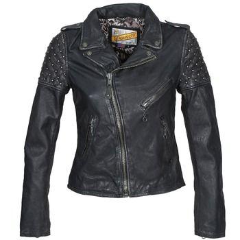 Cette veste Schott souligne votre silhouette féminine tout en vous conférant un petit côté Bad Girl.Avec sa composition en cuir (100%) et sa couleur noire, elle saura vous séduire.Polyvalente, elle s'accordera facilement à toute votre garde-robe. - Couleur : Noir - Vêtements Femme 375,00 €