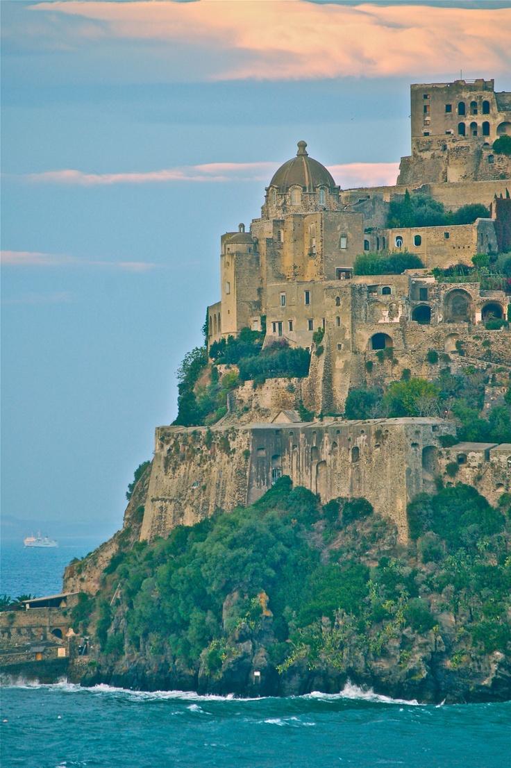 Aragonese castle on Ischia off the coast of Italy