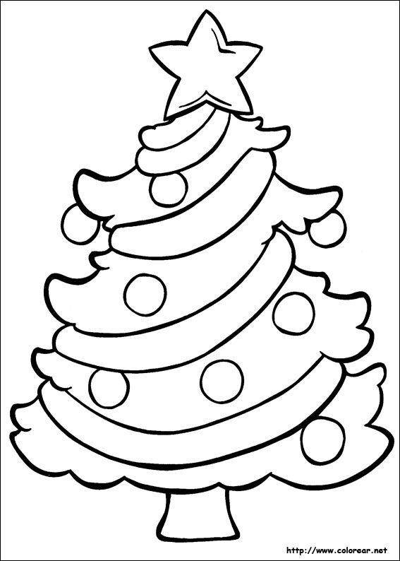 633 best A colorear de navidad images on Pinterest Christmas - new christmas tree xmas coloring pages