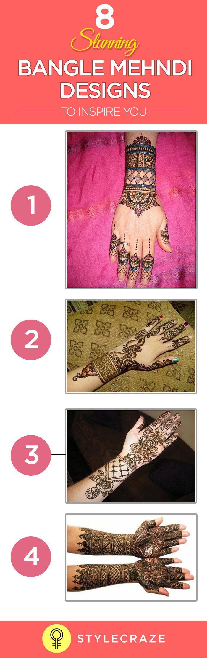 Pin mehndi and bangles display pics awesome dp wallpaper on pinterest - 8 Stunning Bangle Mehndi Designs To Inspire You