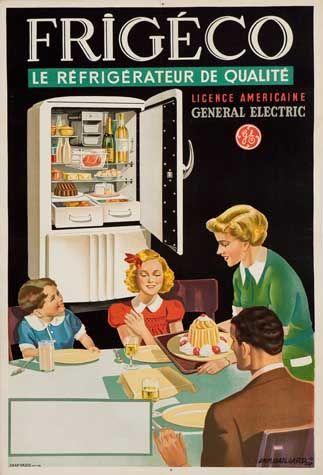 Frigéco - le réfrigérateur de qualité - 1949 - illustration de Emmanuel Gaillard - France -